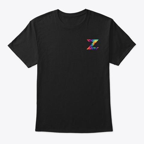 Zeegers Tie Dye Apparel Black T-Shirt Front