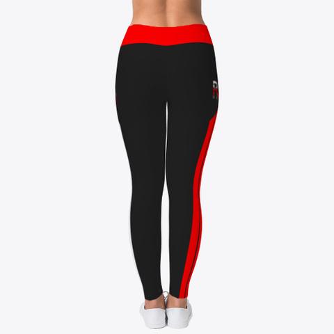 Rebo I Obe Red Leggings Black T-Shirt Back