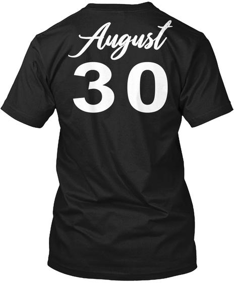 August 30   Virgo Black T-Shirt Back