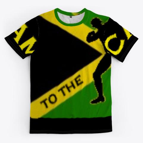 First Trend Jamaican  T Shirts Green T-Shirt Front
