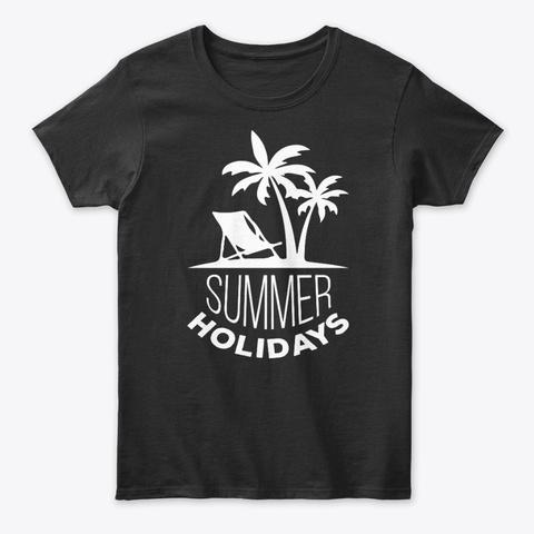 Summer Holidays Tee Black T-Shirt Front