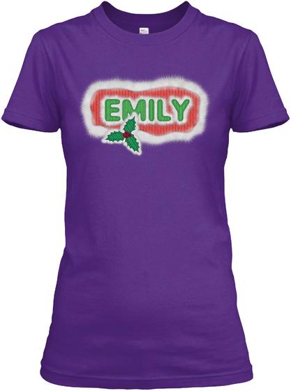 Emily Purple Camiseta Front