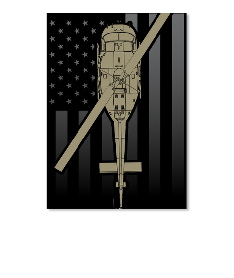 Premium Uh 1 Huey Decal!  Black Kaos Front