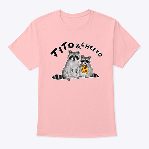 Tito & Cheeto! Pale Pink T-Shirt Front