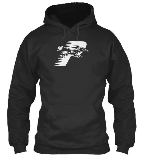Roadrunner Hood Navy 2 Jet Black T-Shirt Front