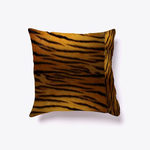 Tiger Skin Pillow. Black T-Shirt Front