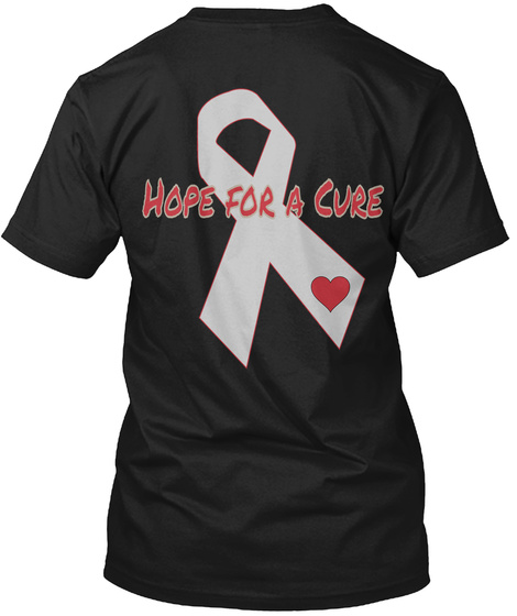 Hope For A Cure Black T-Shirt Back
