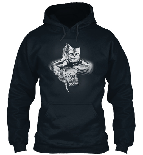 Love Cat 10 French Navy Sweatshirt Front