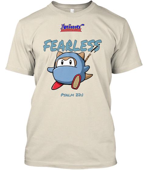 Fearless Psalm 27:1 Cream T-Shirt Front