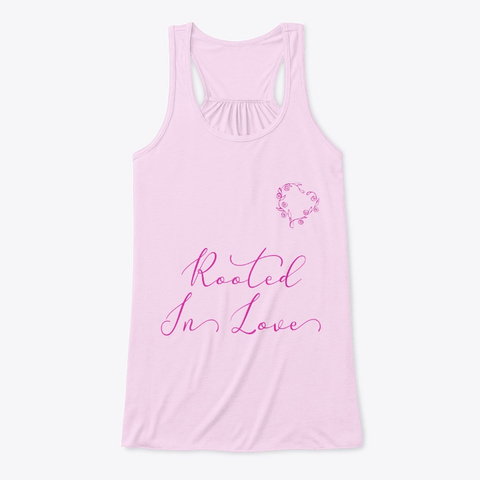 Rooted In Love | Conscious Living Shirt Soft Pink T-Shirt Front