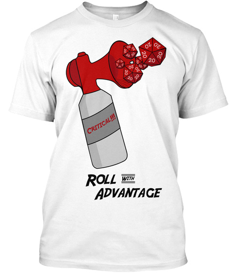 Roll With Advantage: The Crit Horn White T-Shirt Front