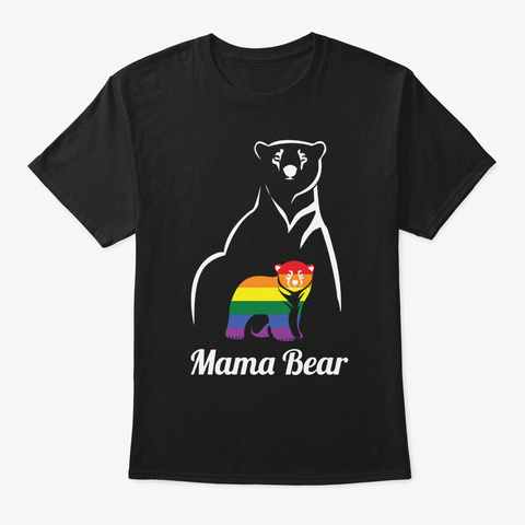 Mama Bear Lgbtq Black T-Shirt Front