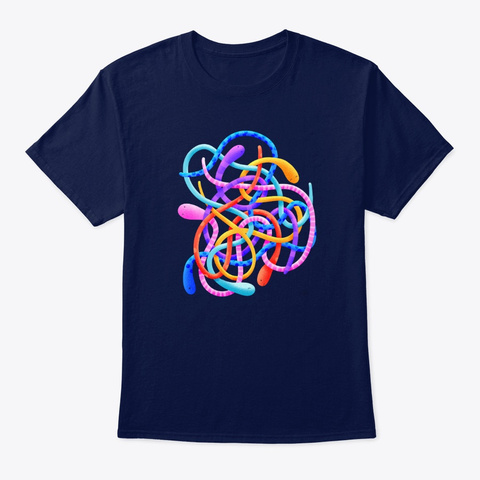 Snakes By Gal Shir Navy T-Shirt Front