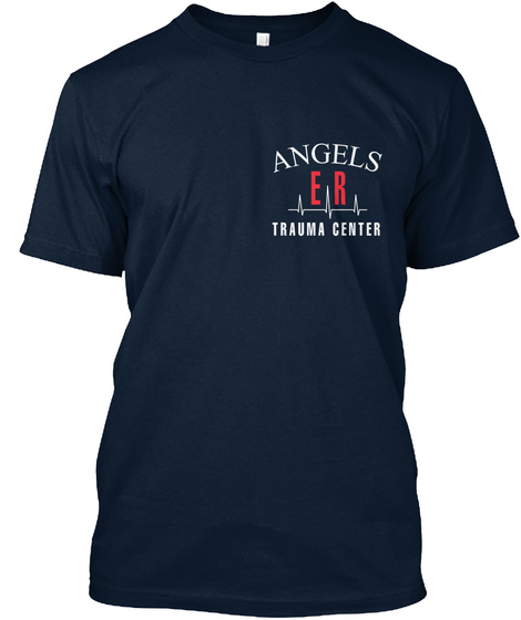 Angels E R Trauma Center New Navy T-Shirt Front