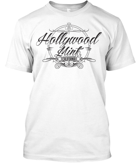 Hollywood Mint Tee White T-Shirt Front