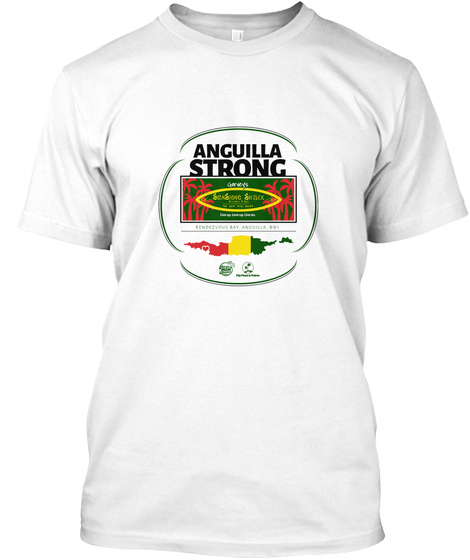 Anguilla Strong White T-Shirt Front