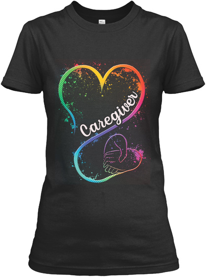 Caregiver Shirt New Year Special Black T-Shirt Front