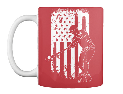 The Great American Pastime   Mug Bright Red T-Shirt Front