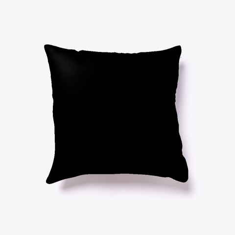 Workaholic Pillow Black T-Shirt Back