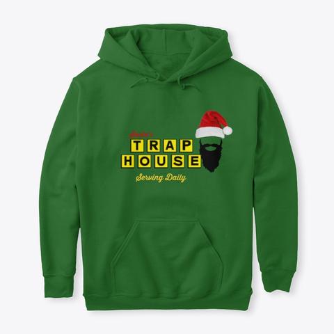 Trap House Santa2 Irish Green T-Shirt Front