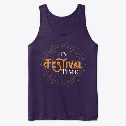 Festival Time Design. In Ethnic Boho. Team Purple T-Shirt Front