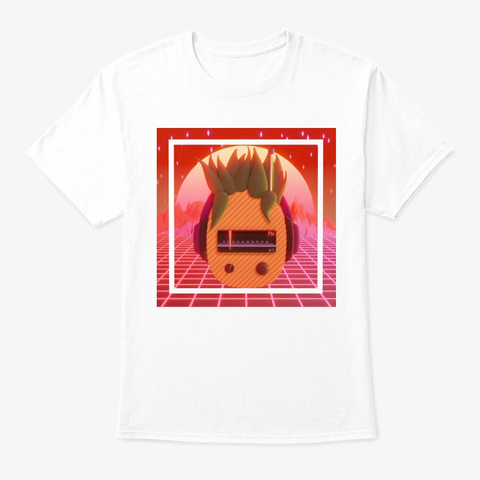 Wholesome Transmissions (Burnt) White T-Shirt Front