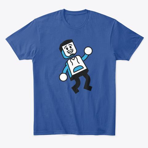 Bricks 'o' Brian Iconic Design! Deep Royal T-Shirt Front