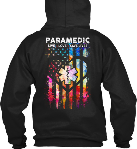 Paramedic Hoodie Christmas Special Black T-Shirt Back