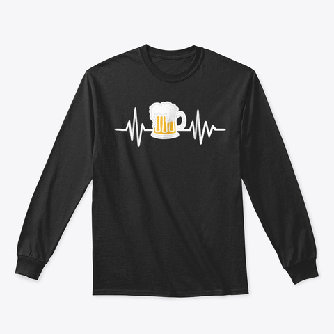 Beer Mug Frequency T Shirt Black T-Shirt Front