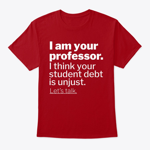 I Am Your Professor Deep Red T-Shirt Front