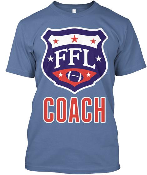 Coach Denim Blue Kaos Front