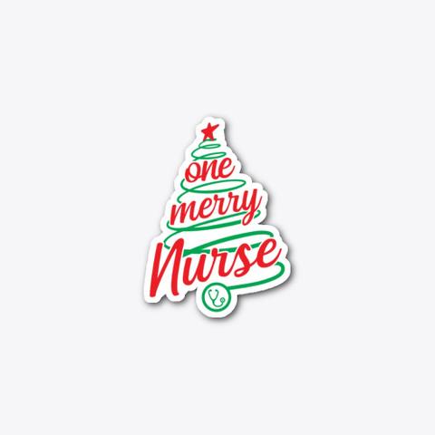 Christmas Nurse, Nurse Christmas Design Standard T-Shirt Front