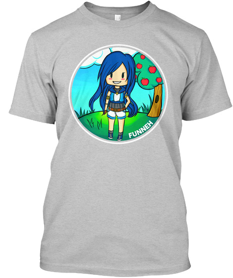 Funneh Light Heather Grey  T-Shirt Front