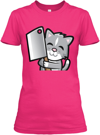Ladies Kitty Wita Cleaver Shirt Heliconia T-Shirt Front