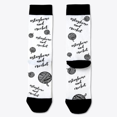 Yarn Ball Socks White T-Shirt Front