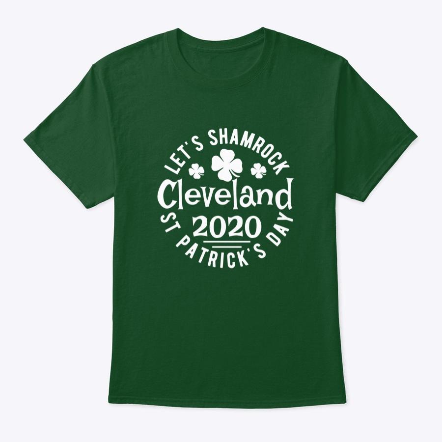 Lets Shamrock Cleveland St Patricks – Long Sleeve T Shirt Royal Size L