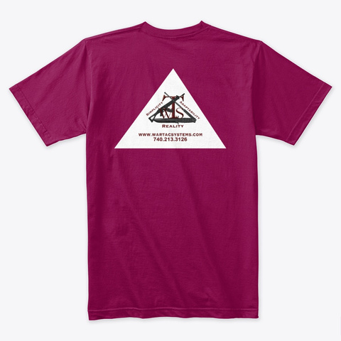 Warrior Tactical Systems Swag Cardinal T-Shirt Back