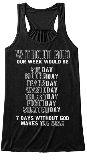 Christianity   Without God 0010 Black T-Shirt Front