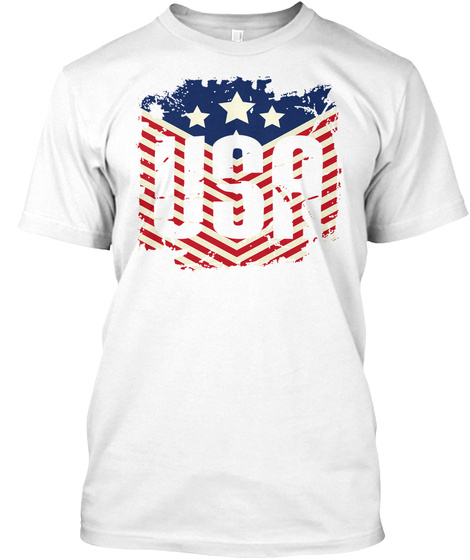 Usa White T-Shirt Front