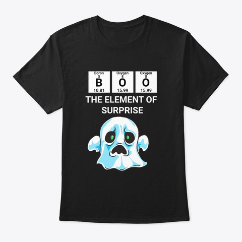 The Element Of Surprise Ghost   Black T-Shirt Front