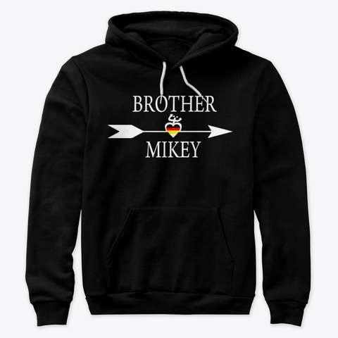 Brother Mikey Logo Black T-Shirt Front