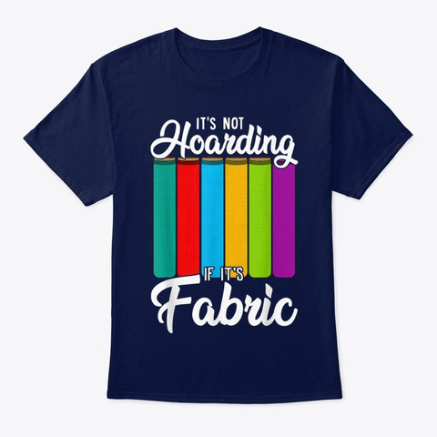 Sewing Quilting Fabric Funny Crafting  Navy T-Shirt Front