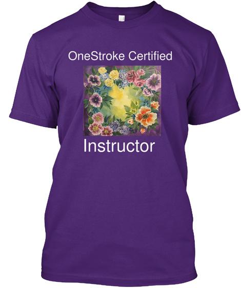 One Stroke Certified Instructor Purple T-Shirt Front