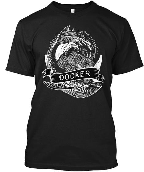 Docker Black T-Shirt Front