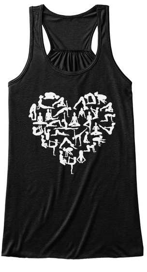 Heart Of Yoga Black Women's Tank Top Front