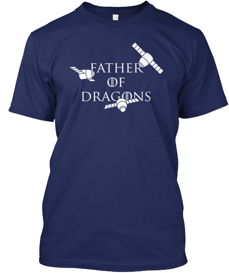 Father Of Dragons Navy T-Shirt Front