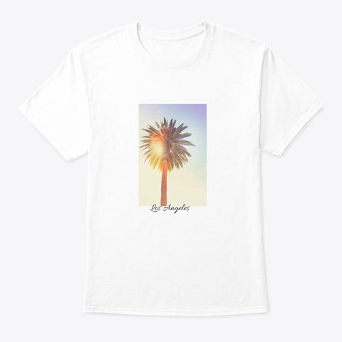 Los Angeles White T-Shirt Front