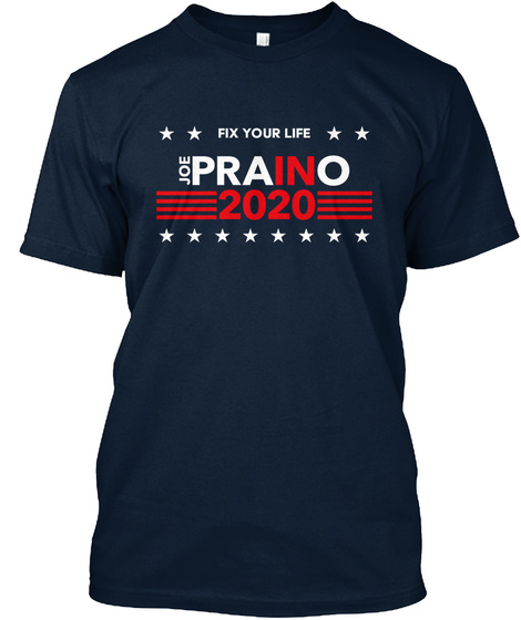 Fix Your Life Joe Prano 2020 New Navy T-Shirt Front