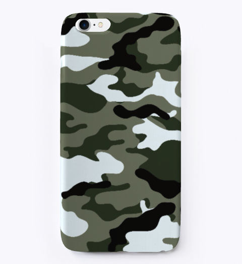 Camo X Iphone Case Black T-Shirt Front