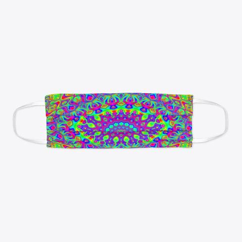 Groovy Colorful Neon Rainbow Mandala Standard T-Shirt Flat